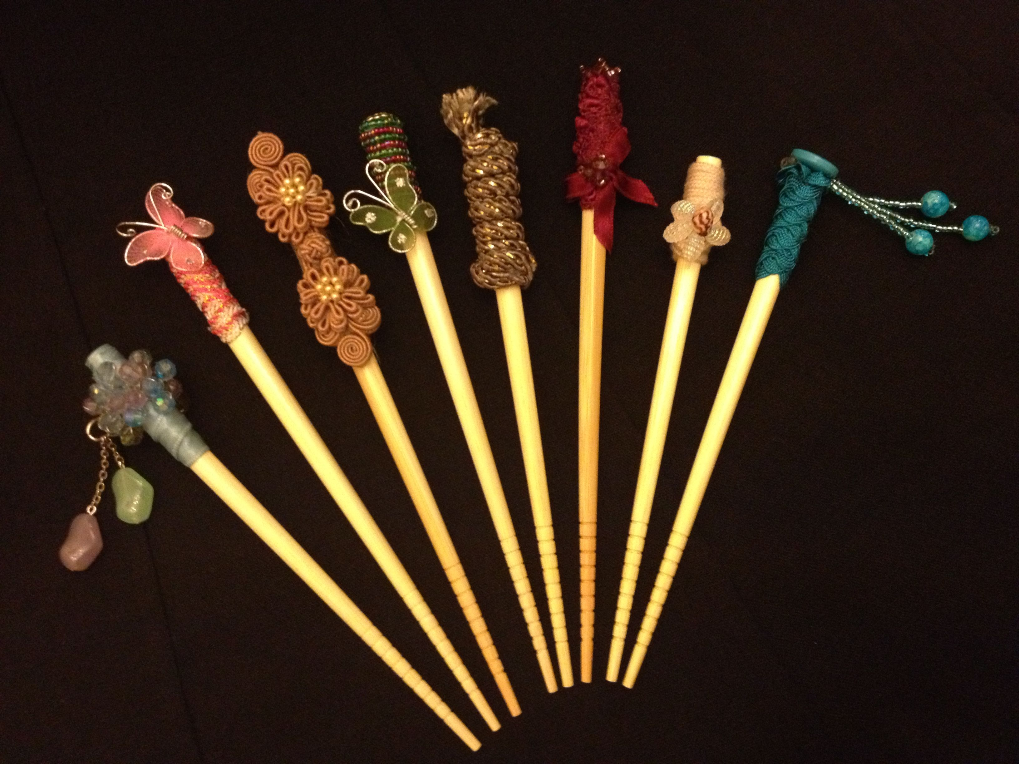 Upcycled Repurposed Accessory From Chopsticks To Hair Sticks Chignon Holders