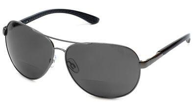 58f950cfa49 Grand Banks 477BF Polarized Bi-Focal Metal Reading Sunglassess in Gunmetal    Gre (eBay Link)