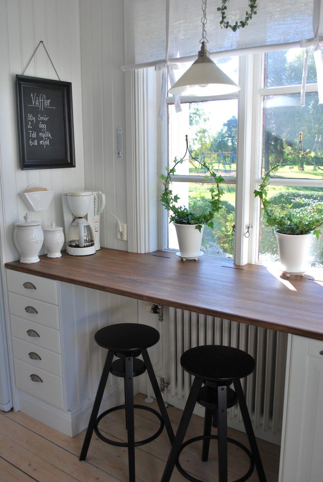 Vitt hus med vita knutar: Köksdetaljer...