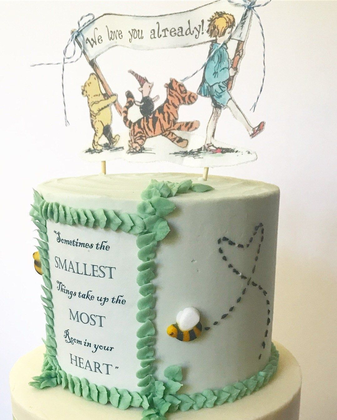 Classic pooh bear cake topper fabric winnie the pooh baby
