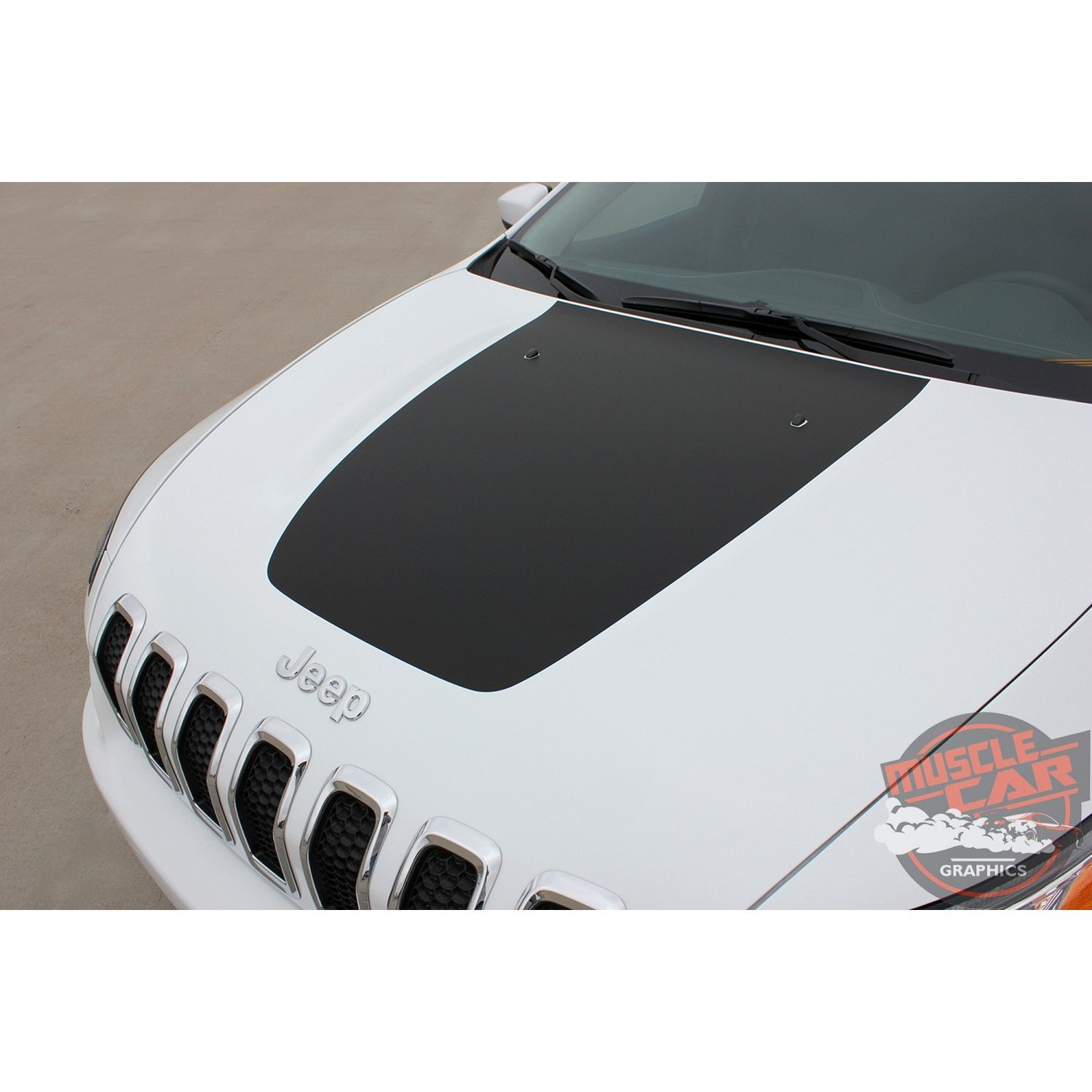 Jeep Cherokee T Hawk Trailhawk Hood Center Blackout Vinyl Graphics Decal Stripe Kit For 2013 2014 2015 2016 2017 2018 2019 2020 Jeep Cherokee Stripe Kit Vinyl