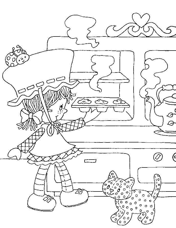 story book character coloring pages   Strawberry Shortcake's Storybook to Colour   Strawberry ...