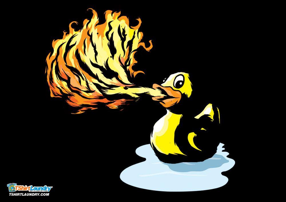 Fire Breathing Rubber Ducky Tshirt Rubber Ducky Ducky Rubber