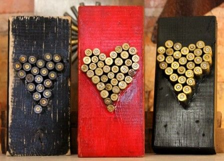 #BulletCasing Heart Art available at #AtlantaGiftShop - #ReinspirationStore $29.95 #bulletgifts #bulletart #bulletcasing #bullet casings