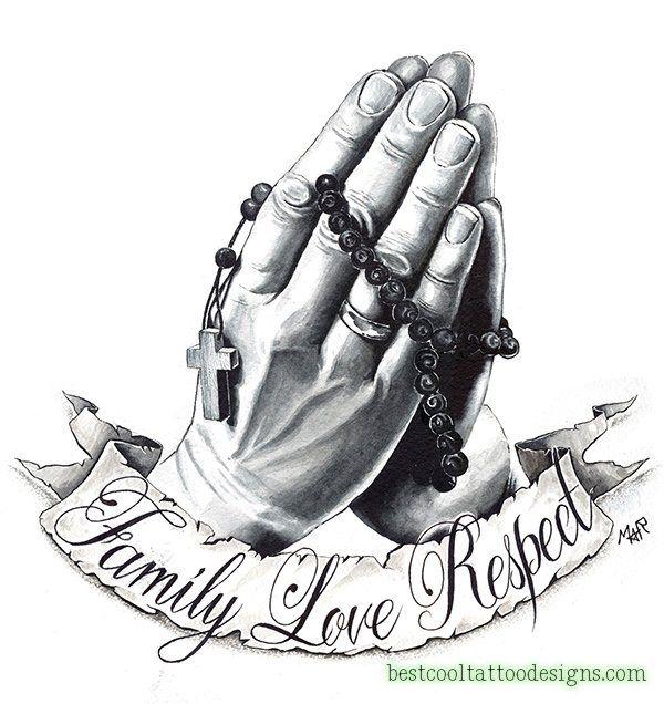 Praying Hands Tattoo Designs 14 Betende Hande