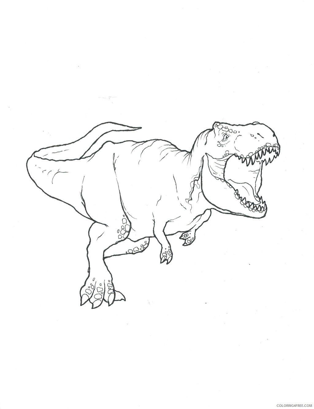 Jurassic World Coloring Pages T Rex Coloring Pages Printable For Kids Coloring4free Dinosaur Coloring Pages Dinosaur Coloring Dinosaur Drawing