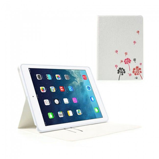Dutchess (Valkoinen) iPad Air Timantti Nahkakotelo - http://lux-case.fi/catalog/product/view/id/23904/s/dutchess-valkoinen-ipad-air-timantti-nahkakotelo/category/19355/