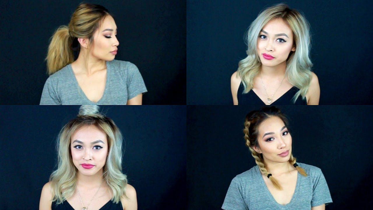 quick u easy hairstyles for medium length hair hair pinterest