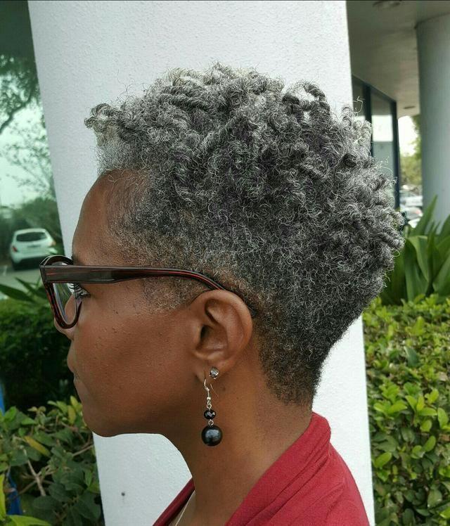 hottest short haircuts gray