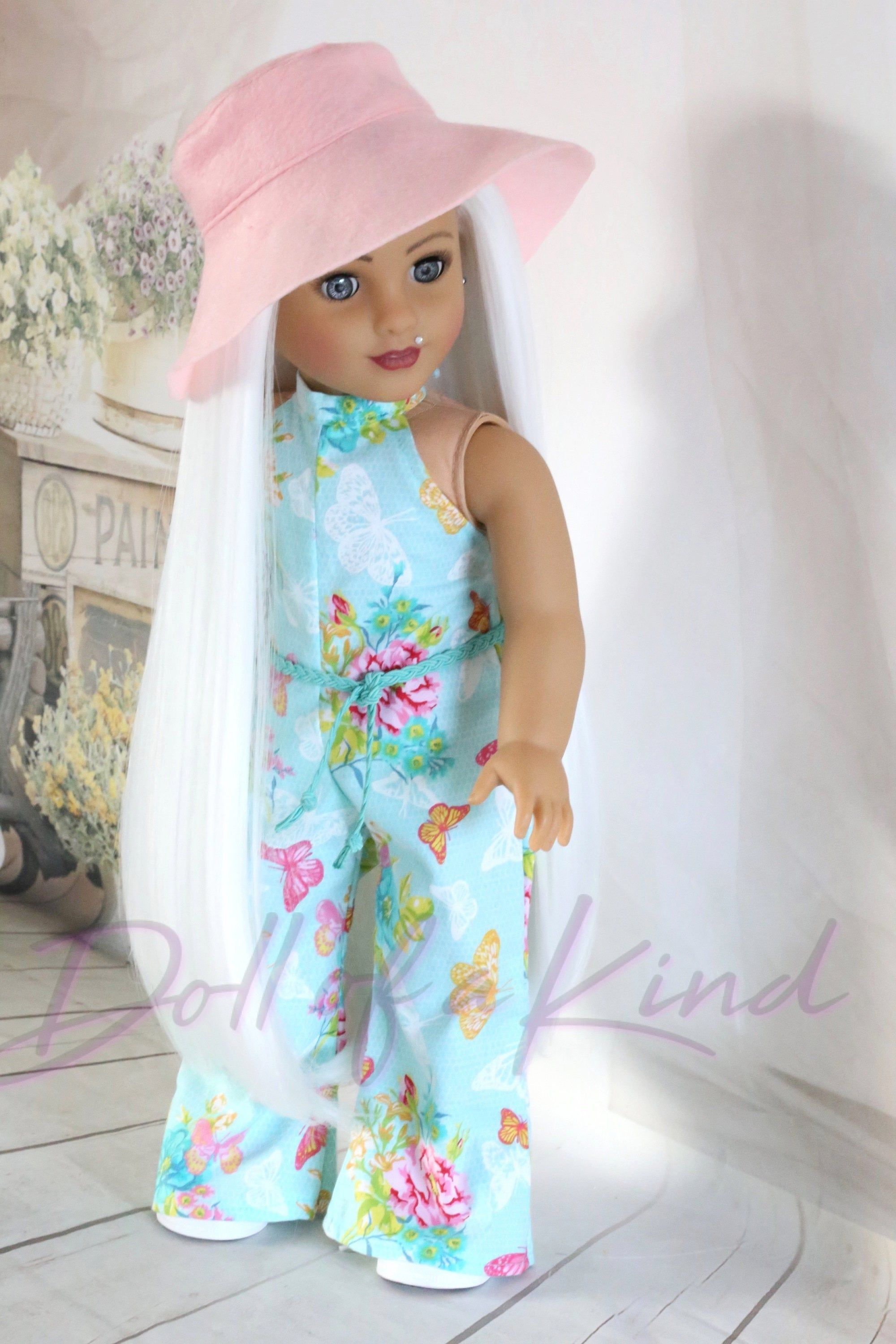 American Girl doll PURE WHITE Premium wig Fits most 18/'/'dolls Blythe OG