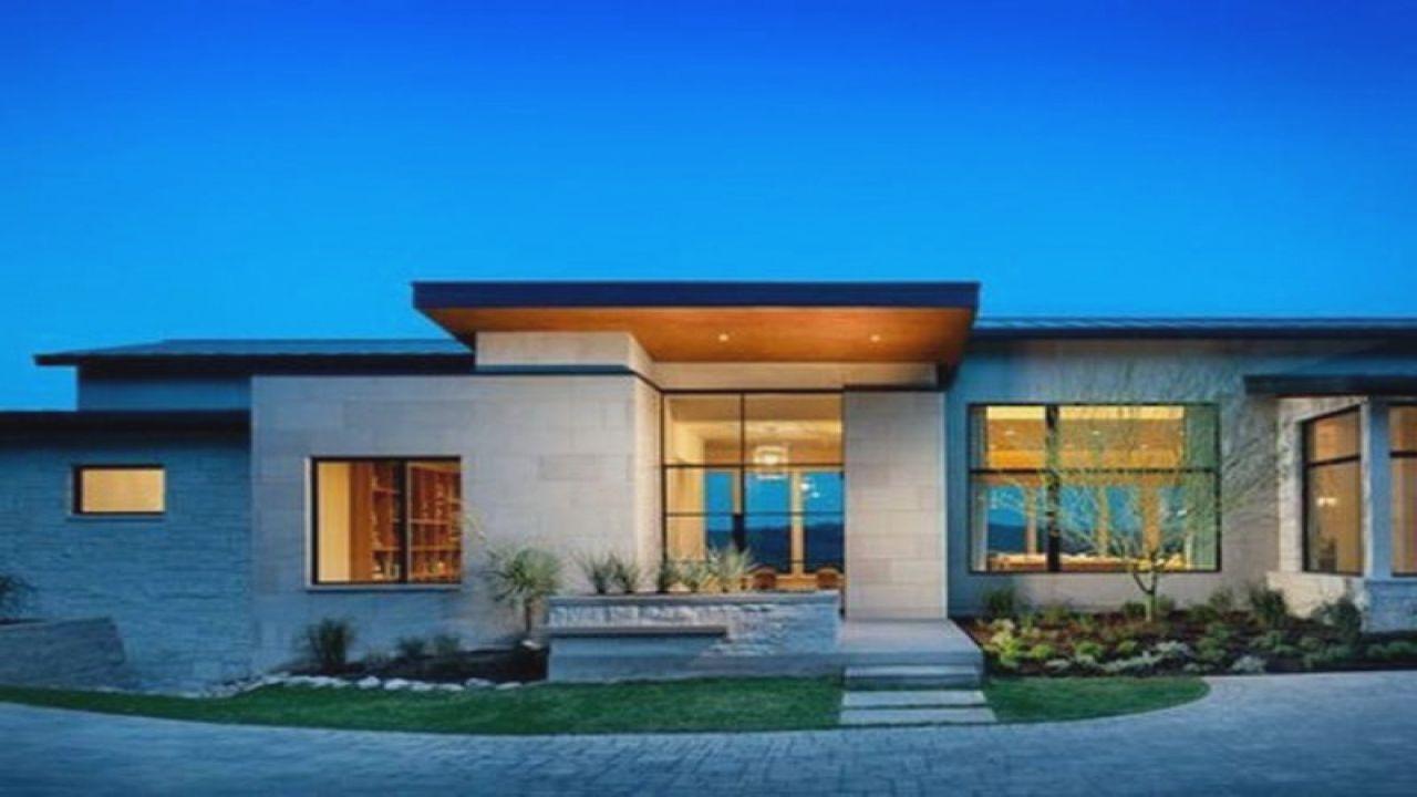 Modern Luxury Single Story House Plans Archivosweb Com One Storey House Contemporary House Design Facade House