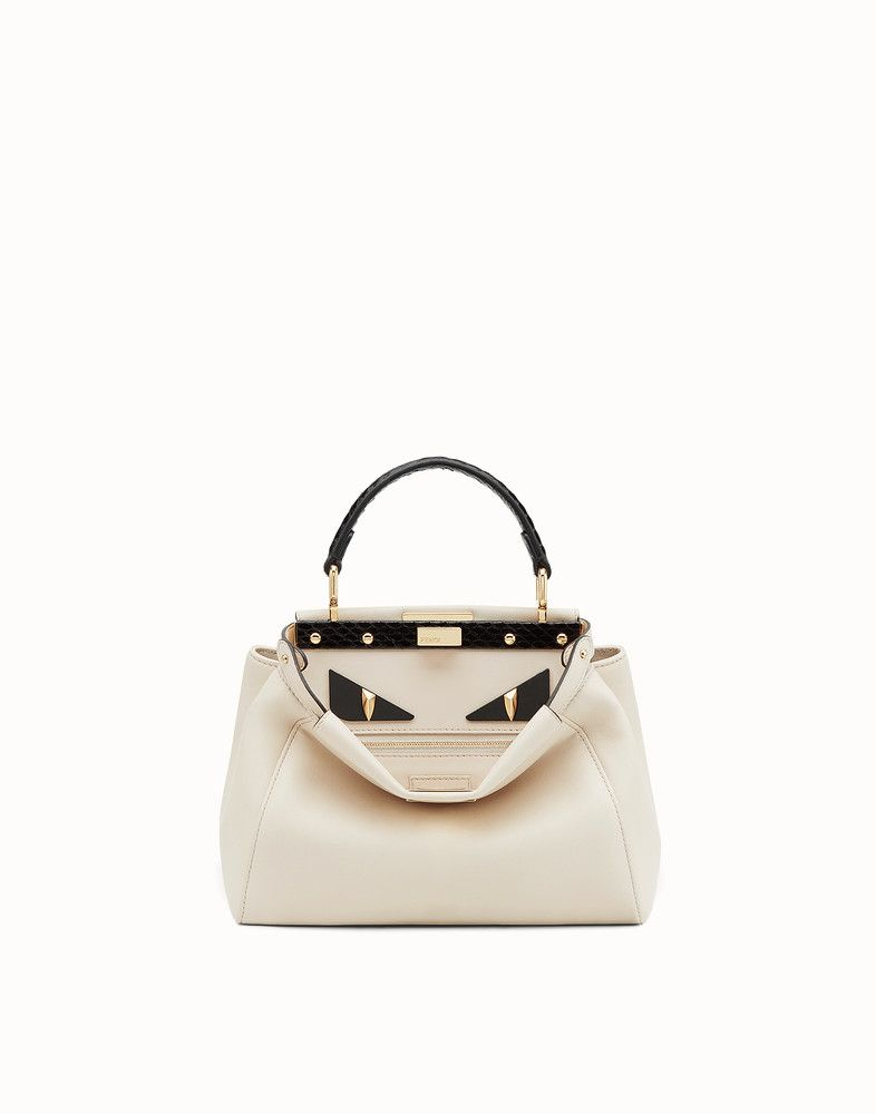 fb7151cb99 FENDI PEEKABOO MINI - Exotic white leather bag - view 1 detail