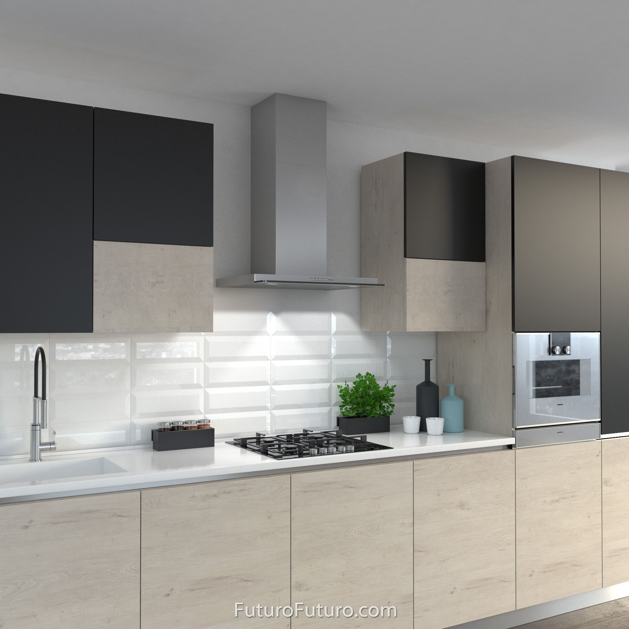 27 Venice Wall Mount Range Hood By Futuro Futuro In 2020 Contemporary Kitchen Design Kitchen Design Kitchen Interior