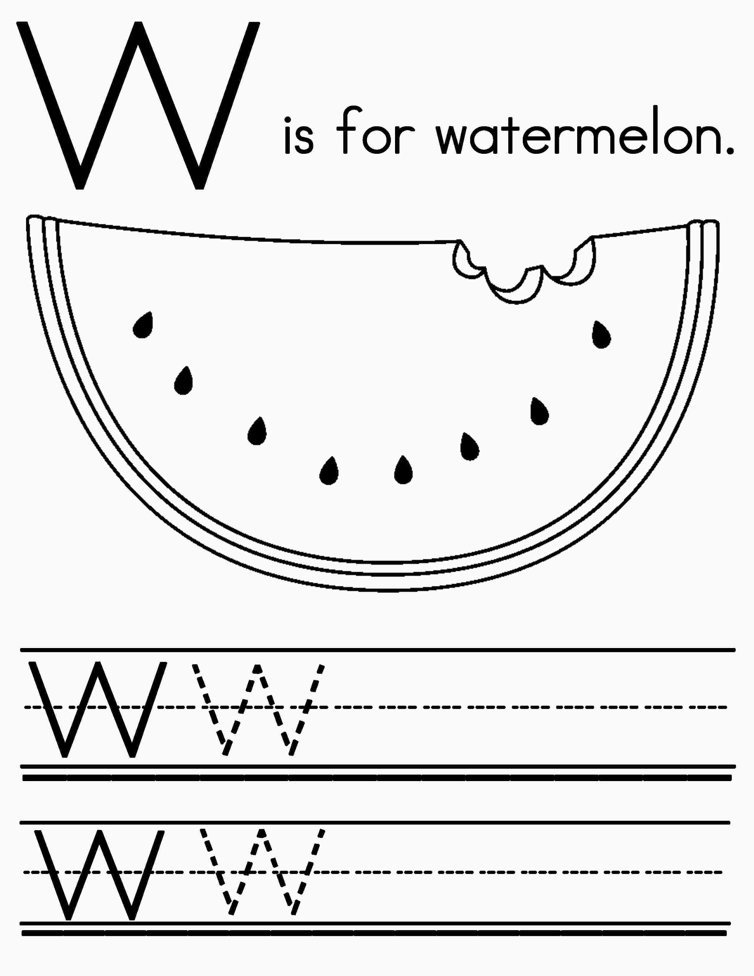 Watermelon Coloring Worksheet