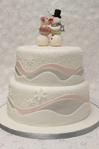 Hochzeitstorte Winter Schneeflocken Eiskristalle | Winter ...