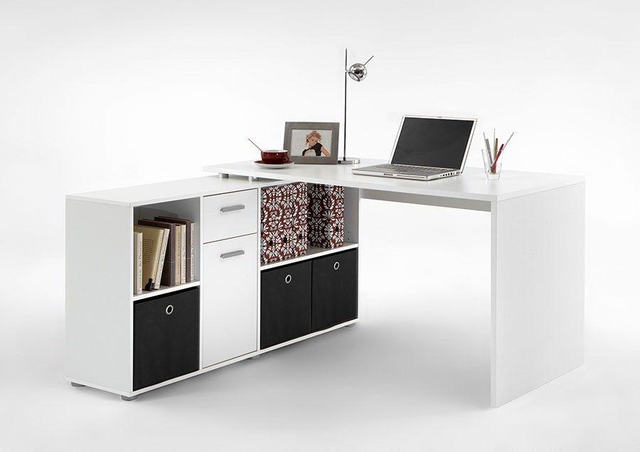 Bureau avec bibliothèque de rangement blanc bureau pinterest