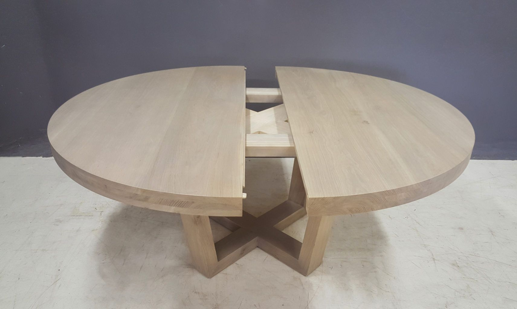 Solid Wood Dining Tables Round Extendable Dining Table Round