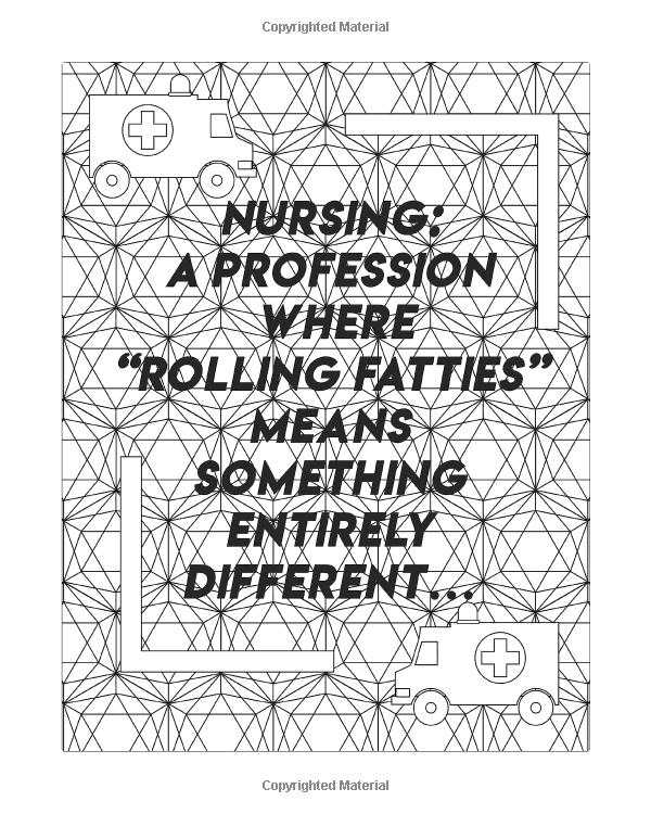 Nurse Coloring Book: A Humorous, Snarky & Unique Adult ...