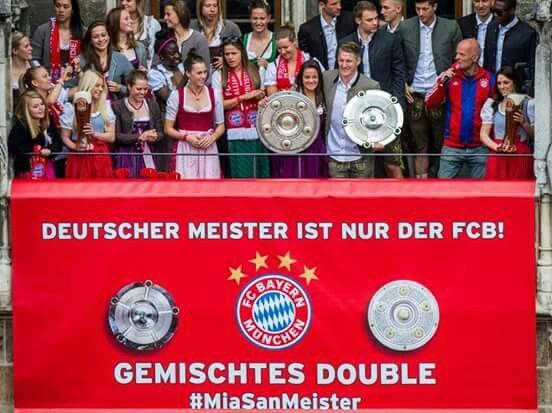 FC Bayern München (Lena Lotzen & Bastian Schweinsteiger) #FCBayern #DeutscherMeister 2014-15