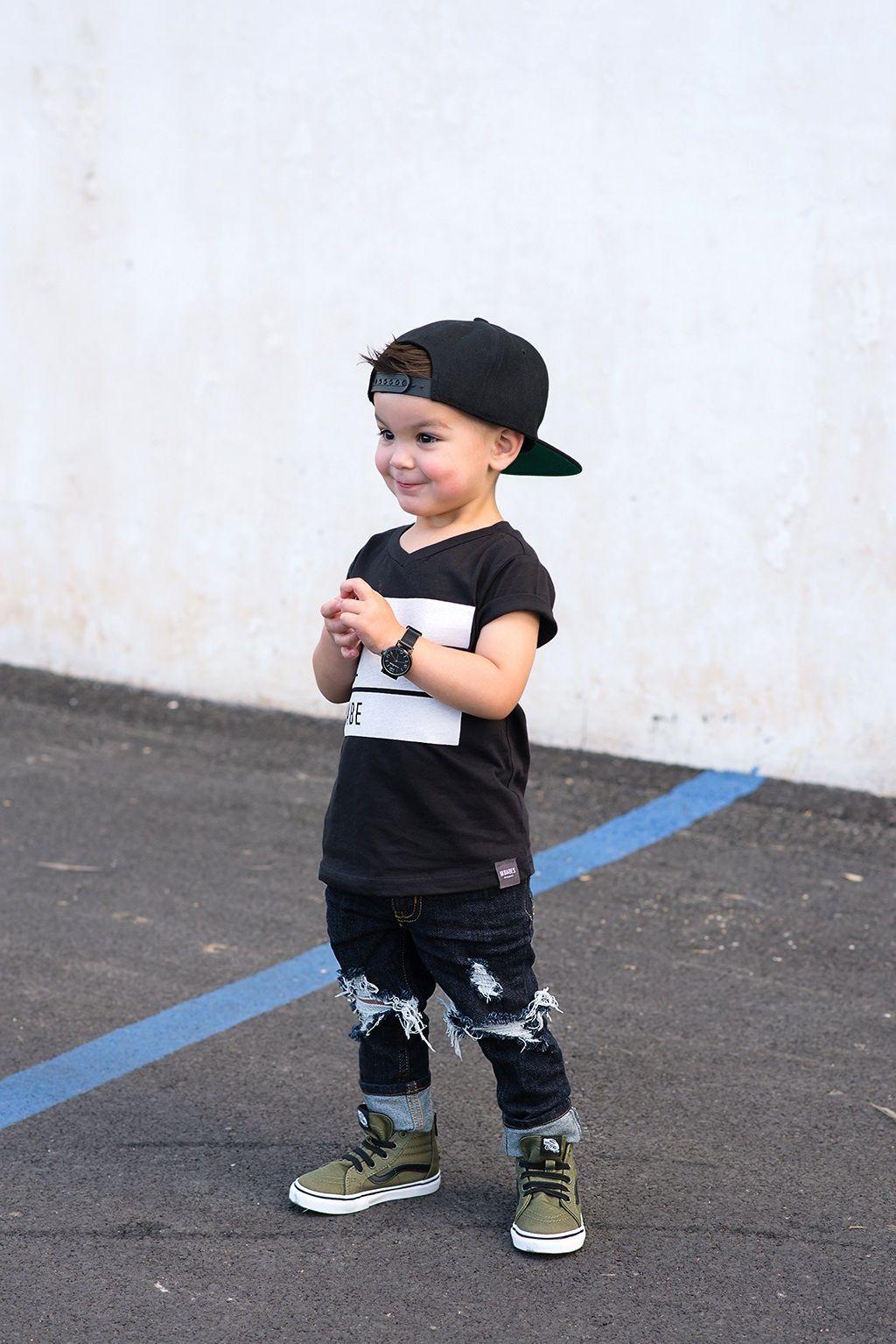 3b3c284641f Toddler boy jeans lovesickthreads lilhavenco marlee distressed denim vans  sk8 hi top watch skinny fashion baby