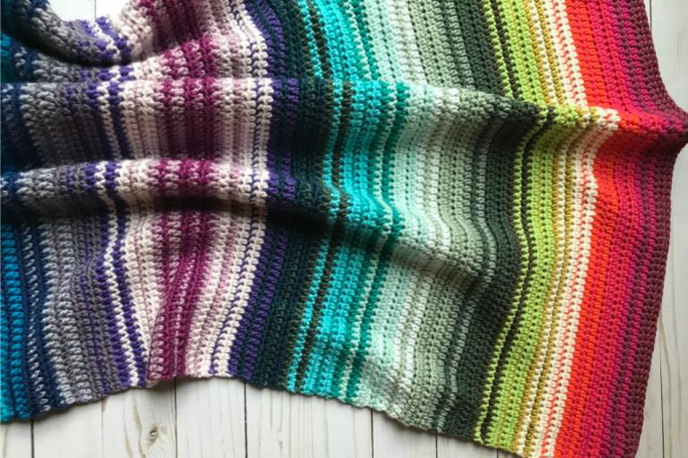 Caron X Patone Rainbow Gradient Baby Blanket: A free ...