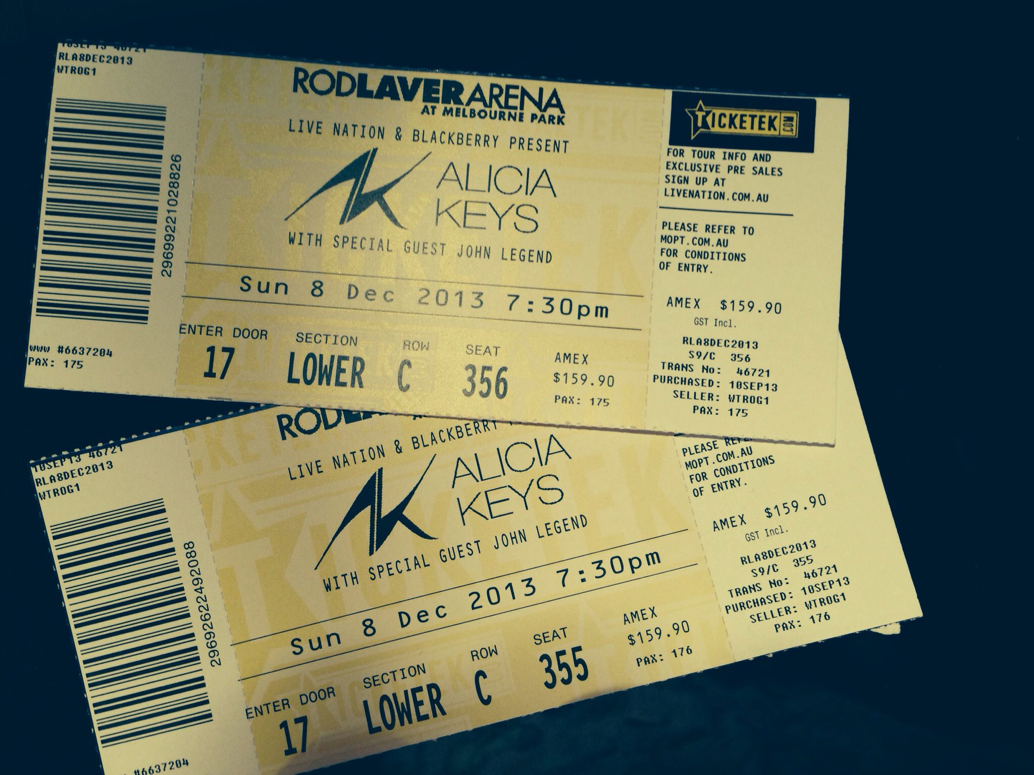Alicia Keys John Legend Rod Lava Arena 8 12 13 John Legend