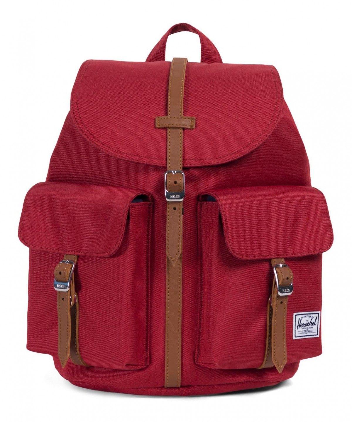 d9fb934fb82 Herschel Dawson XS 600D Poly Brick Red Tan