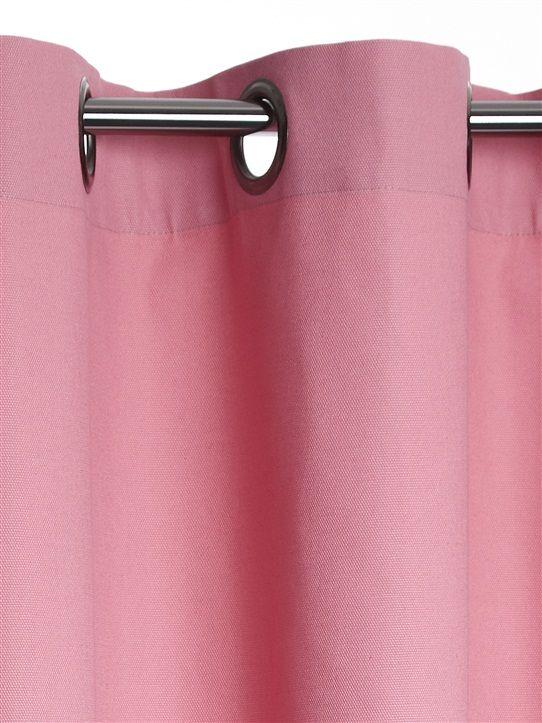 rideau uni en coton avec oeillets framboise beige gris. Black Bedroom Furniture Sets. Home Design Ideas