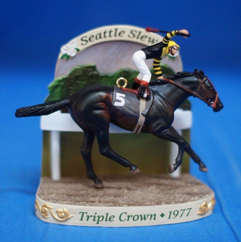 Carlton Christmas Ornament Figurine Seattle Slew Triple