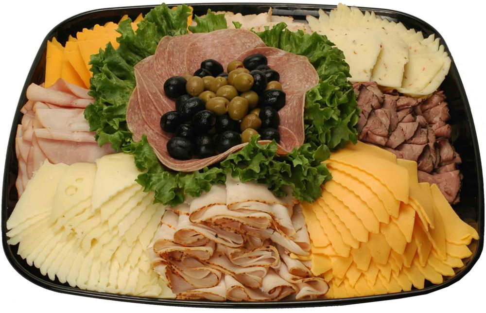 meat and cheese platter image detail for traditional deli amp cheese tray 12243