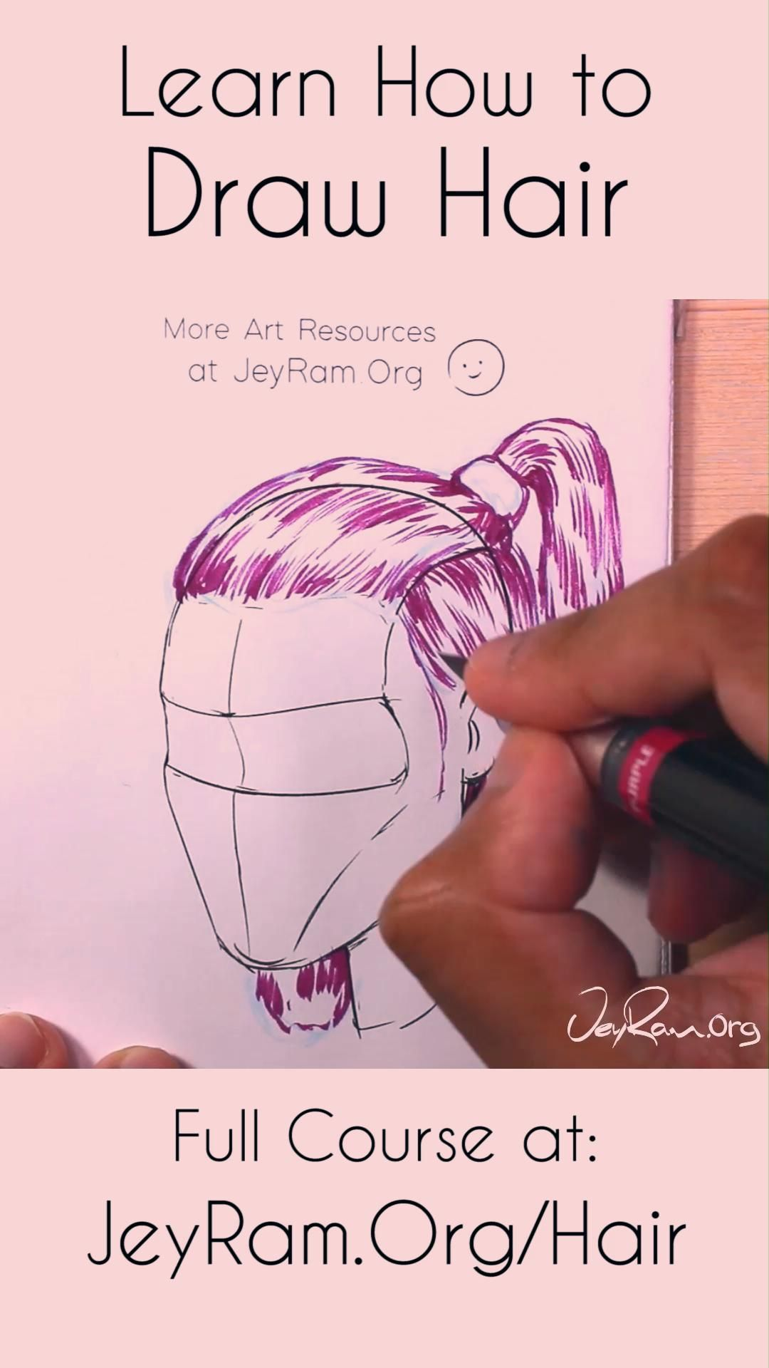 Learn how to draw female hair with this course that is designed to help you learn all the necessary skills for drawing hairstyles at many angles. We will go through a series of exercises that are built in a step by step process to help us draw from the ground up! I strongly believe in using worksheets to learn how to draw because it helps to solidify our learning in a very streamlined manner. Let's draw some cute hairstyles together! #tutorial #drawing #draw #howtodraw #anatomy #art #artist