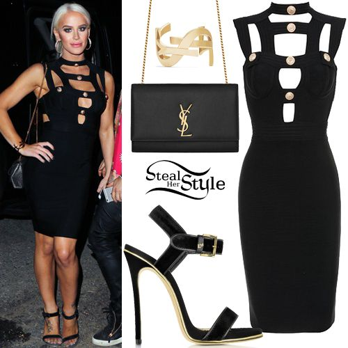 442780926316 Gigi Gorgeous arrived at the Teen Vogue Young Hollywood Party in Malibu  last night wearing a House of CB Alfea Cut Out Bandage Dress (£129.00), ...