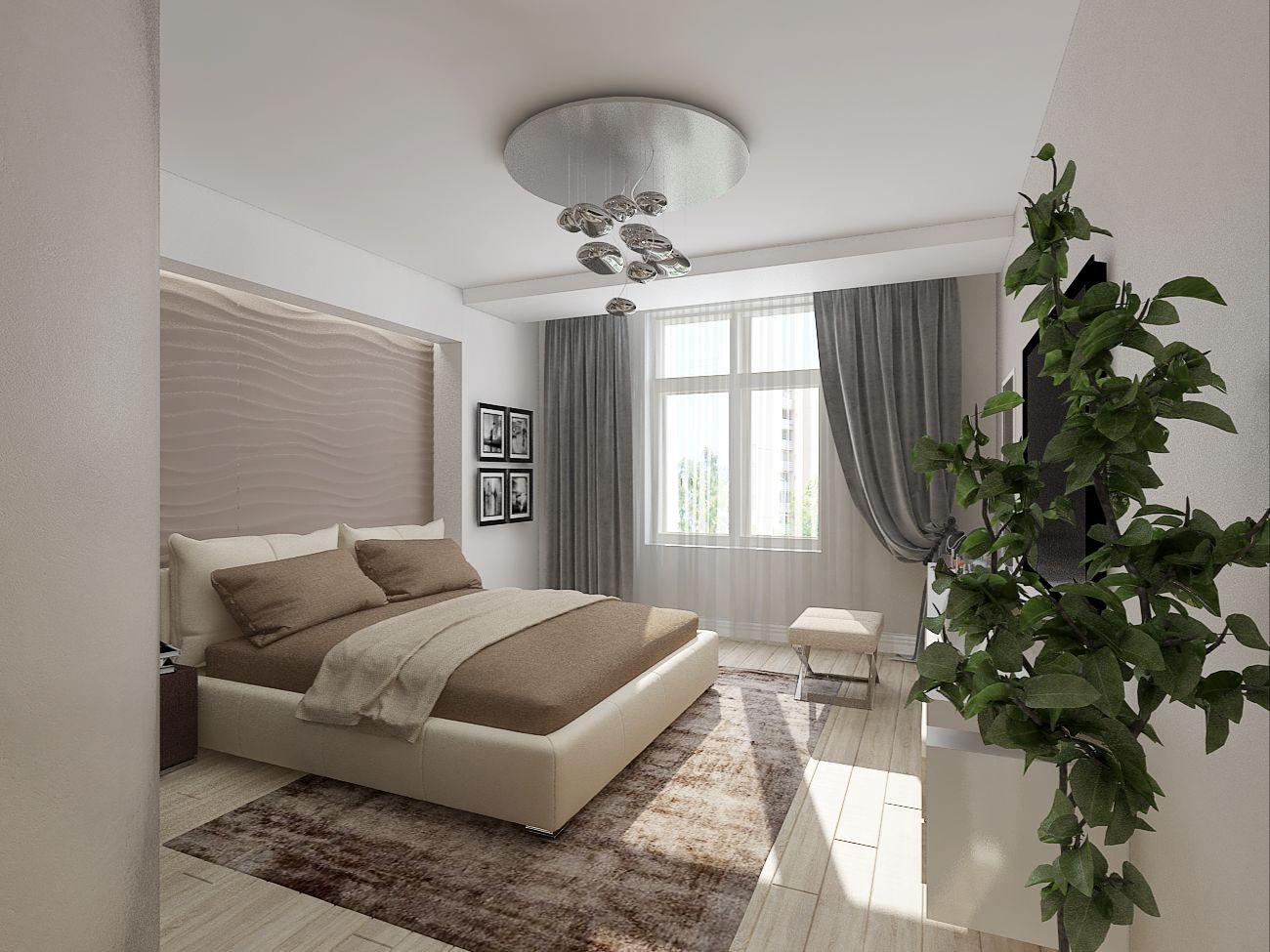 10*10 bedroom interior Квартира в г Мытищи  Дизайн студия Евгении Ермолаевой Картинка