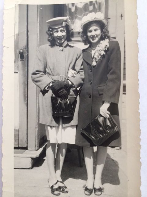 """Mom, Adeline """"Lynn"""" Haymes and her 2nd cousin, Carroll Smith (on left). """"Sisters"""" really."""