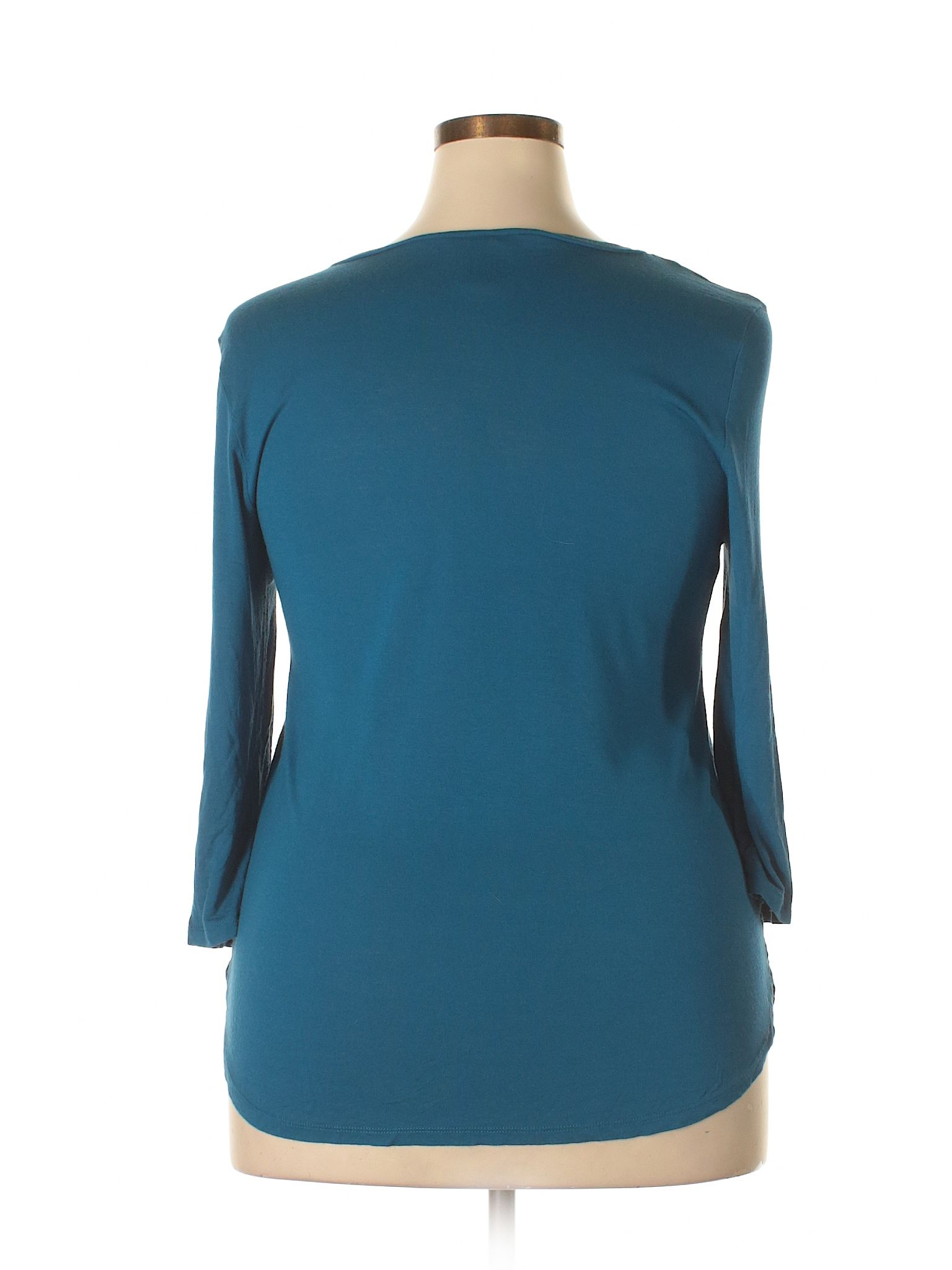Ann Taylor Factory 34 Sleeve Top Size 1200 Navy Blue