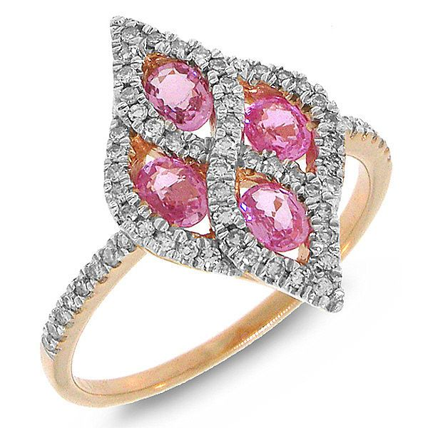 A unique ring glittering with rare pink #sapphires http://ebay.to/1SNXB8U #pink #sapphire