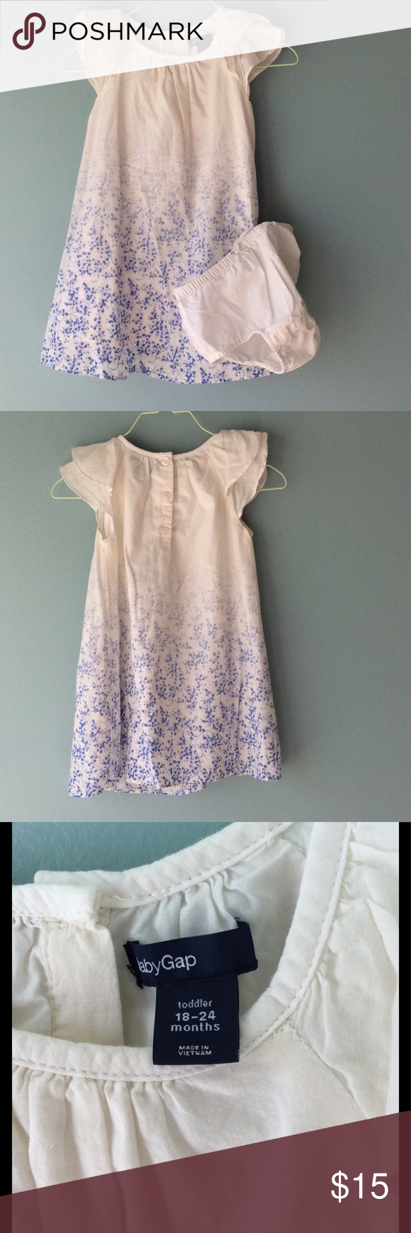 Baby Gap Dress With Blue Flowers Pinterest Blue Flowers Flutter