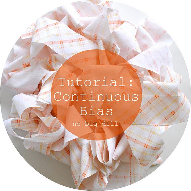 Continuous Bias Tape Tutorial From No Big Dill