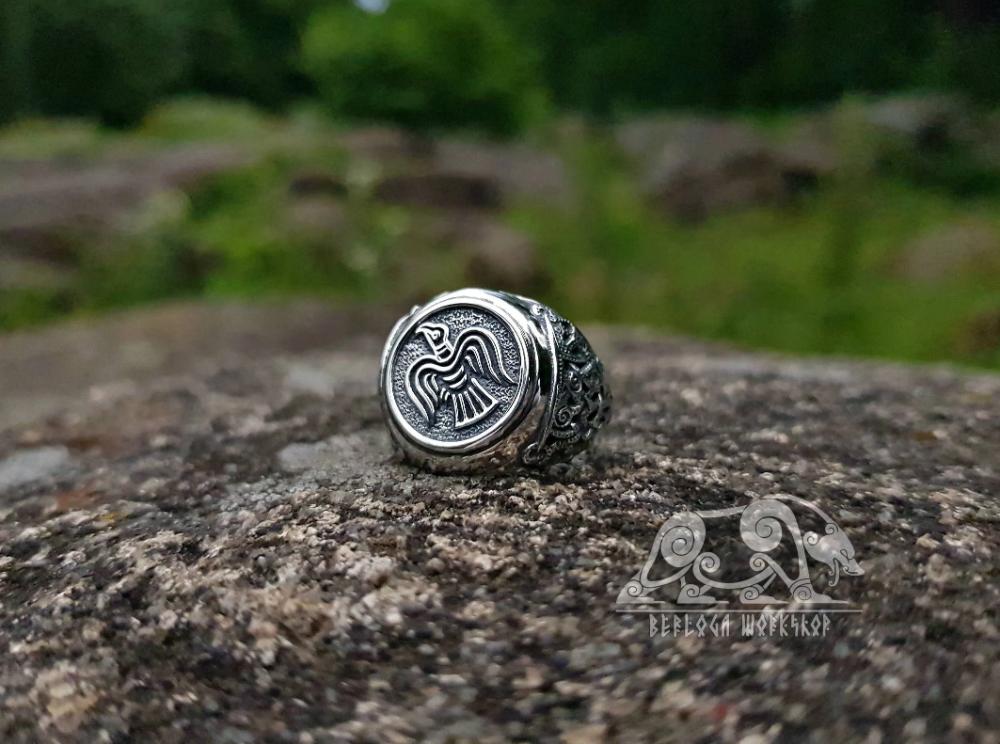 The Raven Banner Ring Mammen Style Viking Raven Ring Sterling Silver Viking Ring Scandinavian Norse Viking Jewelry Viking Ring Viking Jewelry Norse Vikings
