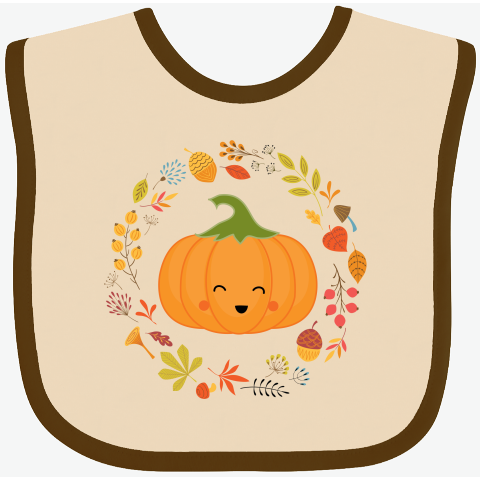 inktastic Happy Thanksgiving with Pumpkin and Vegetables in Long Sleeve Creeper