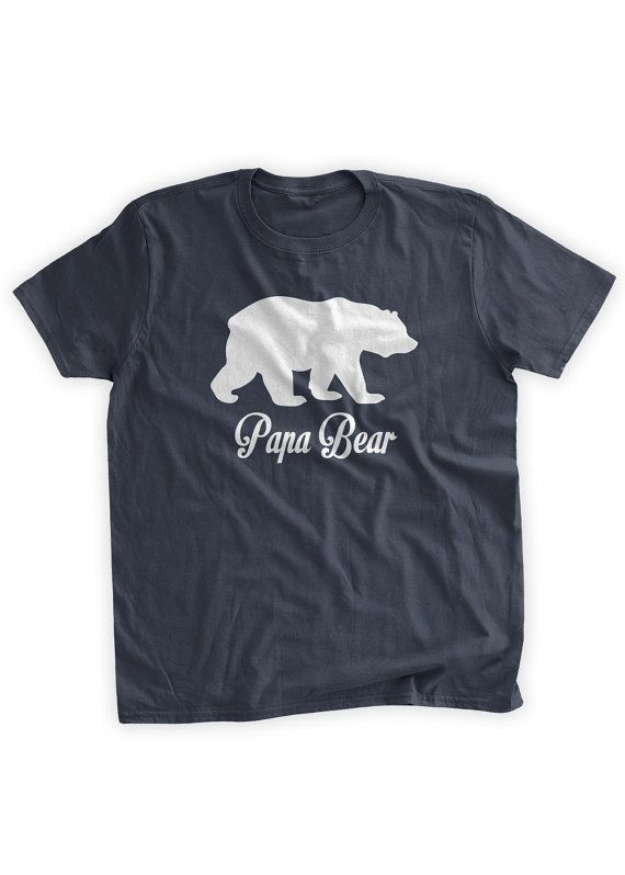 4147cded5 Papa Bear T-Shirt Grizzly Bear Grandparent Gifts for Papa Daddy Funny  Father's Day Gift Idea Bear Shirt Papa Family Mens Youth Kids T-shirt
