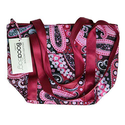 Boca Bag Classic Insulated Lunch Tote Paisley Pink Boca Bag Duffle Bag With Wheels Women Handbags Bags