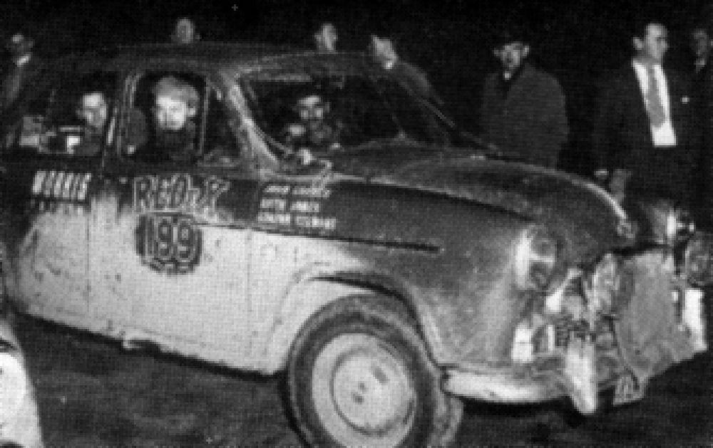 1954 Redex Trial John Crouch Drove A Morris Oxford Car Rally