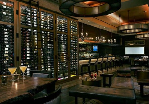 Modern american upscale restaurant and wine bar interior for Manhattan ny interior designer