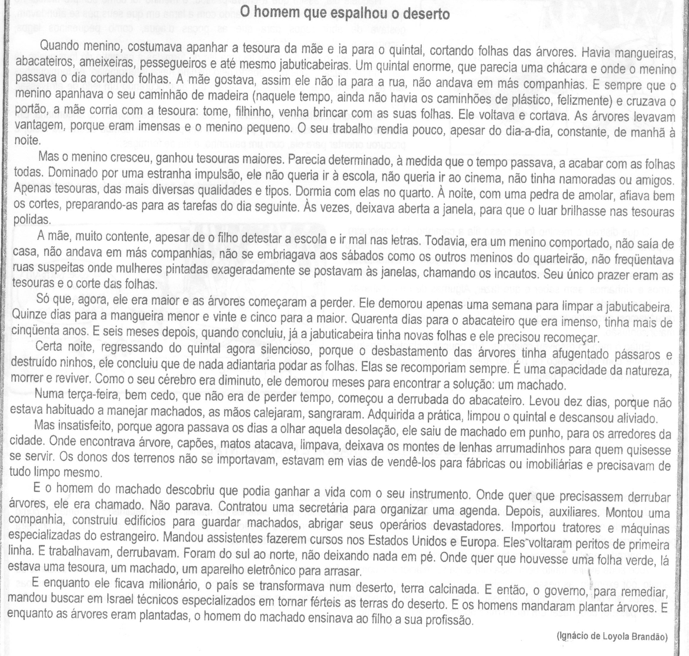 O homem que espalhou o deserto - Ignácio Loyola Brandão