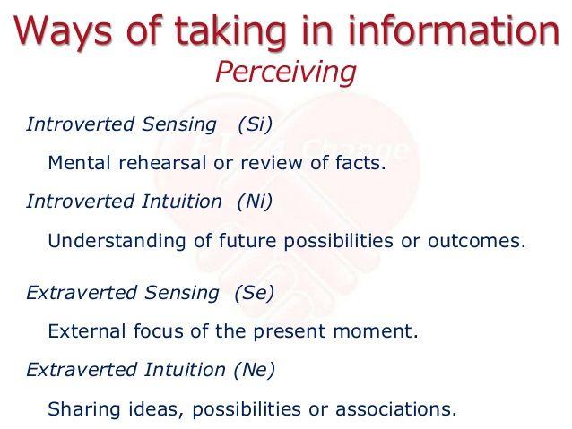 Intuitive vs sensing test