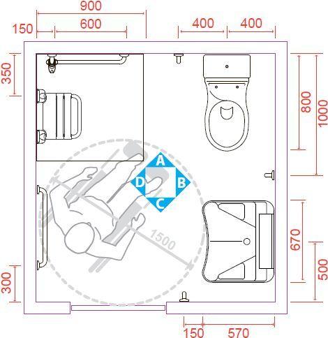 Risultati immagini per misure per bagni disabili   AMARANTOTRE ...