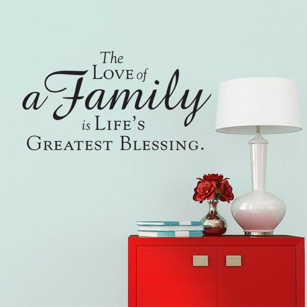 The Love of A Family Quote Wall Art Stickers DIY Living Room Decor Vinyl  DecalThe Love of A Family Quote Wall Art Stickers DIY Living Room Decor  . Room Wall Art Stickers. Home Design Ideas