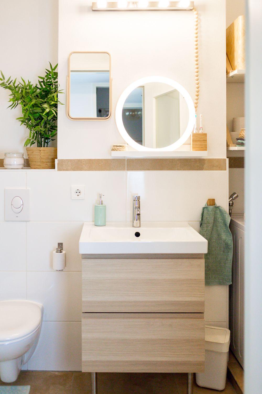 Stauraum Fur Ein Kleines Badezimmer Wir Zeigen Euch Unser Neues Bad Kleine Badezimmer Badezimmer Bad Einrichten
