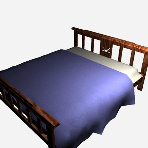 3d Max Bed Wood Free Bed Bed Sheets 3d Model